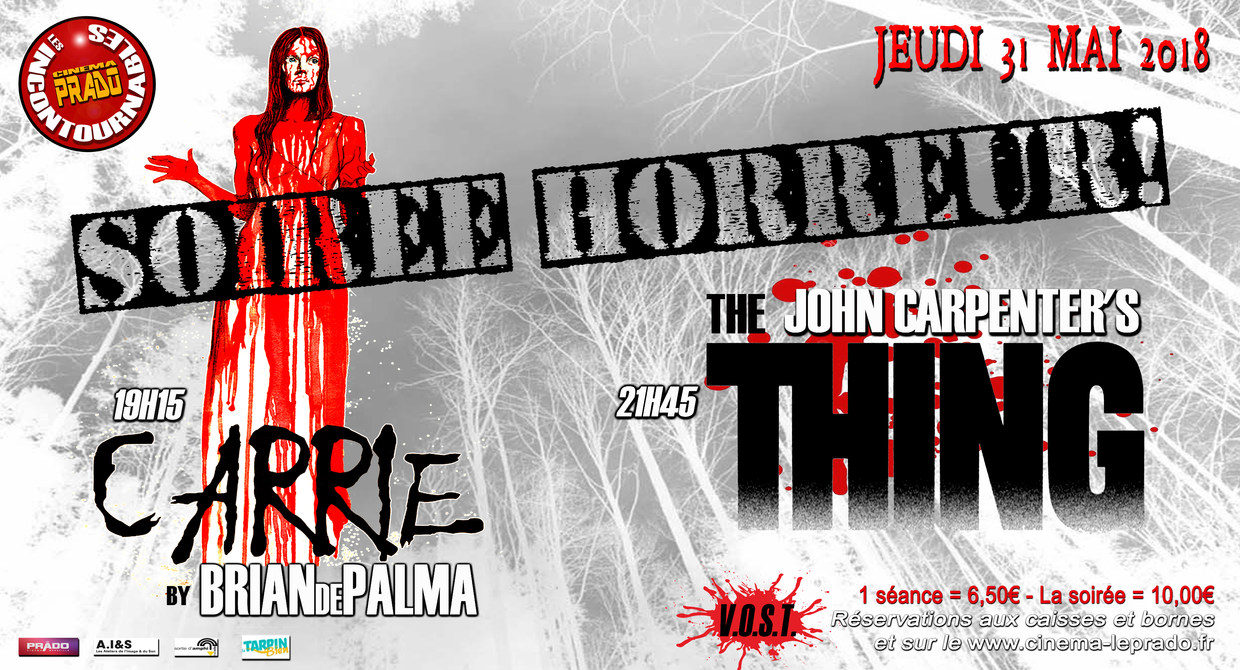 Photo du film SOIREE HORREUR : CARRIE/THE THING Le jeudi 31 mai à partir de 19h15