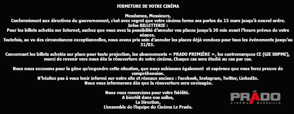 fermeture cinéma